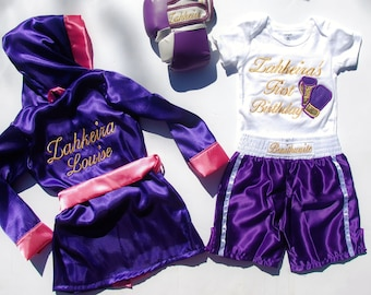 ULTIMATE Fighter Baby/ kids Custom Boxing complete set  with gloves personalized