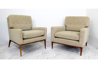 Mid Century Modern Pair of Paul McCobb for Directional #1323 Lounge Chairs