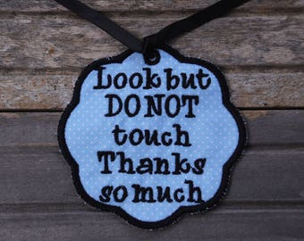 Car Seat No Touching Tag, Car Seat Tag, Car Seat Sign, No Touching Sign, Baby Shower Gift, Do Not Touch