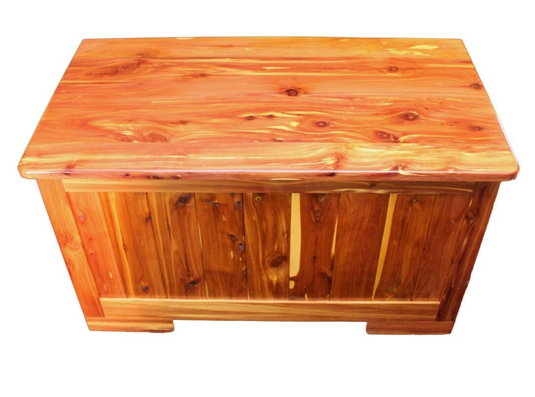 Cedar hope chest kids toy box storage bin blanket