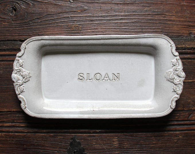 Personalized Small Rectangular Baroque Platter