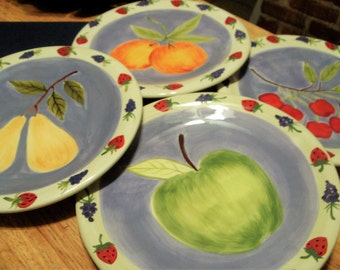 Vibrant Colored Lunch Plates, Luncheon Patio Dishes, Certified  International Plates, Sweet Olive Studies