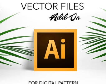Add On Adobe Illustrator Ai File for Digital Paper Patterns