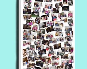 Fantastic personalised random photo collage montage box framed canvas print