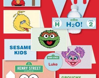 Elmo Sesame Street Themed Birthday - Printable