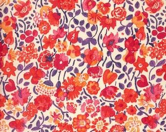 Liberty of London Tana Lawn Kaylie Sunshine in Red -- 1/4 Yard