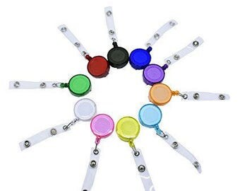 10/20/30/50/100 Bulk ID BADGE REELS Decorate your own badge reel, id holder, retractable wholesale