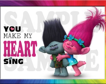 Trolls Valentine's Day Card