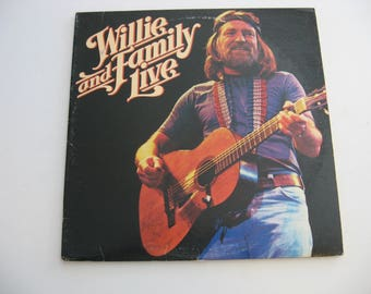 Willie Nelson - Willie And Family Live -Double Album Set! - Circa 1978