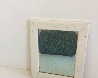 Rustic Shabby White Hanging Mirror