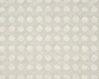 Pearl Shiny Diamonds And Squares Upholstery Faux Leather By The Yard | Pattern # G795