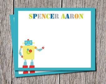 Robot Thank you Cards/ robots Stationery