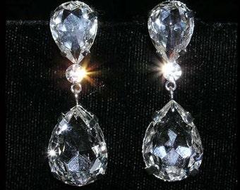 Style # 15331 - Large Pear Drop Crystal Earrings