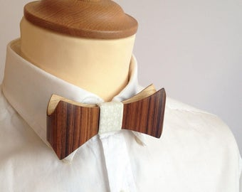 Wooden bow tie Palissandre