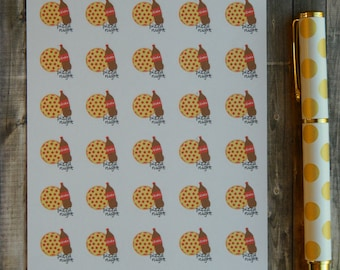 Pizza Night Sticker Sheet for Life Planners (A-055)