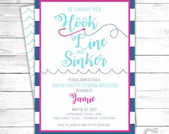 Hook Line Sinker Bachelorette Invitation