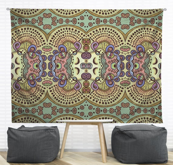 Wall Tapestry Home Decor : Spring pastels hanging wall tapestry home dorm decor