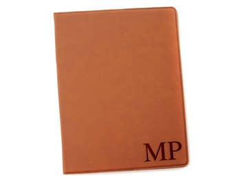 Monogram Legal Pad Holder - Laser Engraved Portfolio - Leather Notepad Folder - Gift for Graduate