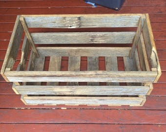 Rustic Recycled Storage Crate, Custom Sizes Available