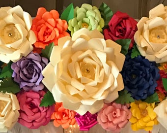 Paper flower Backdrop or Arch Topper
