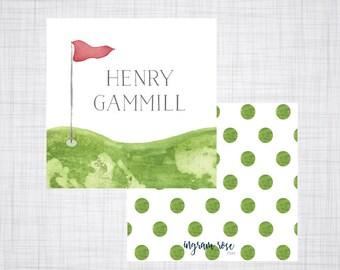 Golf Gift Tag. Golf Enclosure Card. Golf Gift Card. Boys Enclosure Card. Boys Calling Card.