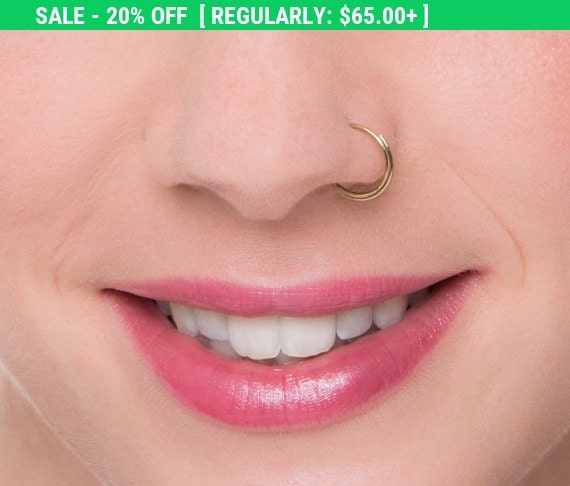 20 Off Sale Dainty Nose Ring Nose Hoop Nose By Studiomeme
