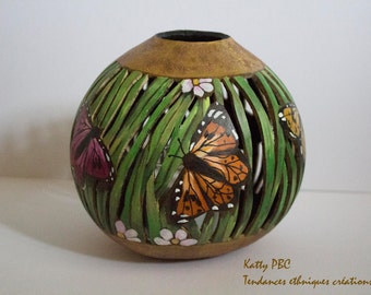 "Candle jar butterfly "" Hakan """