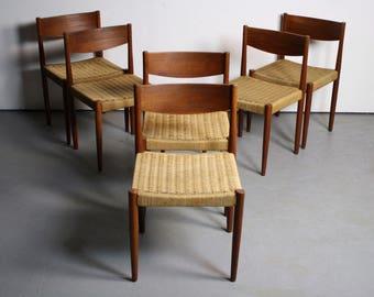 SET OF 6 Frem Rojle Danish Modern Dining Chairs