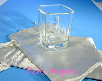 Silver Favor Bags,Wedding Favor Bags,Shower Favor Bags, Silver Gift Bags, Bridesmaid Favor Bags, Silver jewelry gift bags