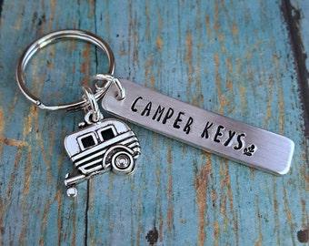Camper Keys - Camper Keychain - Camp - Camper - Camping - Trailer - Trailer Keys - Trailer Keychain - Camper Gift - Gift for a Camper