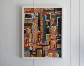 RESERVED FOR ANNA - Mid Century Modern Abstract Painting