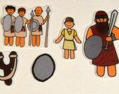 David and Goliath, Felt Board, Flannel Board, Felt Set, Homeschool, Bible Story, Sunday School, Felt Story, Christian Felt, busy book,