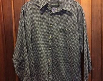 1990S // EVAN PICONE SPORT // Tiny Checkers Button Down