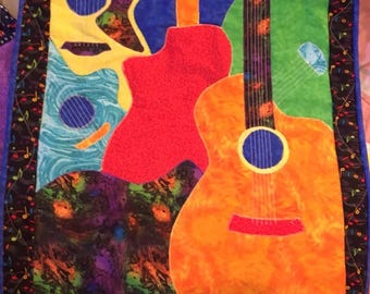 Quilted Guitar Wall Hanging