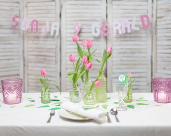 Letter Garland with your initials, name or your favorite saying
