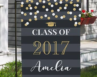 Personalized Graduation Garden Flag, Welcome Flag