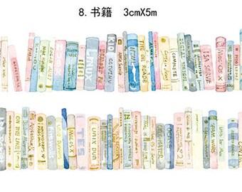 Books Washi Tape --Masking Washi Tape--Deco tape--30mm x5M