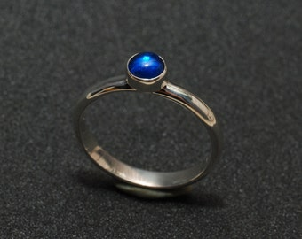 Blue Spinel, Handmade, 925, Sterling Silver, Ring. Made to order