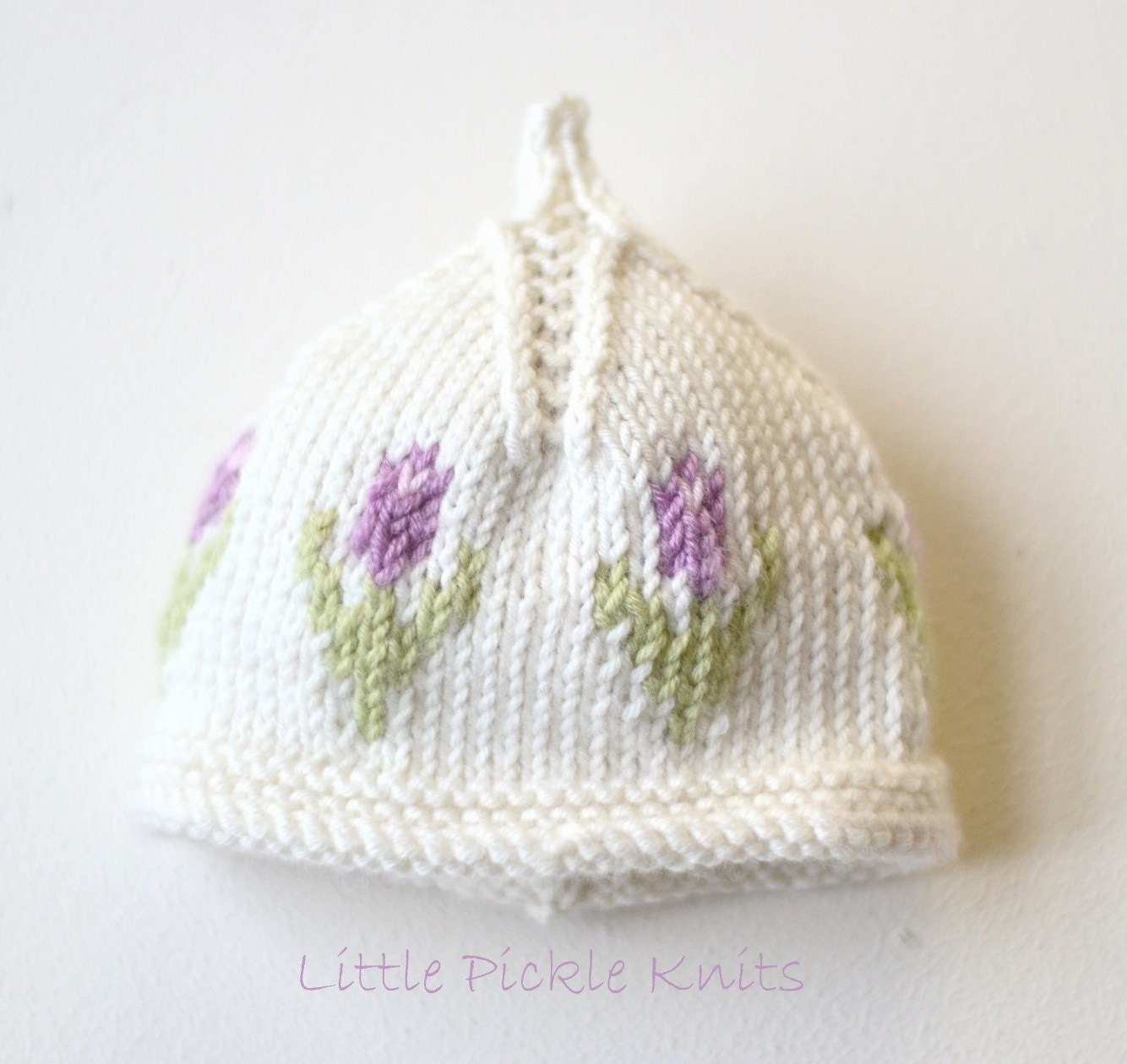 Toddler Beanie Knitting Pattern : DIY Knitting pattern Baby Beanie Little Tulip