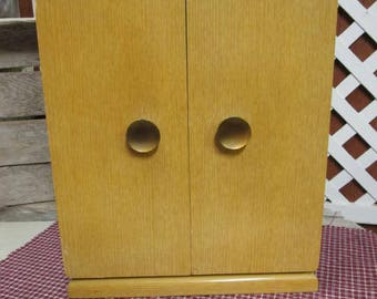 Vintage Mid Century Modern Art Deco Rogers Brothers Bros Silverware Flatware Upright Chest Storage Cabinet