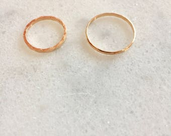 Handmade Facet Stackable Ring