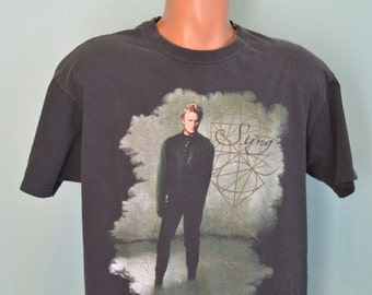 90s T-Shirt Sting Soul Cages Concert North American Tour 1991 Black Tee The Police Hanes XL