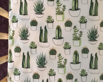 cactus crib sheet, cacti nursery, gender neutral nursery, modern baby bedding, succulent crib sheet, crib bedding