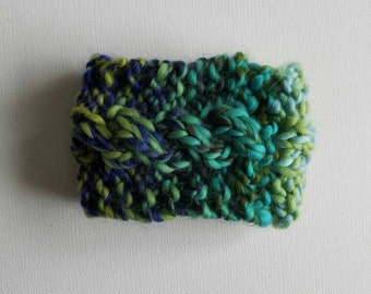 Cable Knit Java Jacket - Coffee Cup Cozy - Coffee Sleeve - Greens and Blues - Ready to Ship