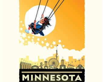 Landmark MN   Minnesota State Fair Yellow by Mark Herman