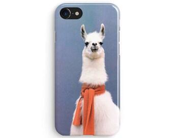 Llama Scarf - iPhone X case, iPhone 8 case, Samsung Galaxy S8 case, iPhone 6, iPhone 7 plus, iPhone SE 1M006