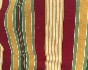 Gorgeous barkcloth vintage fabric striped lovely colors regal and fancy