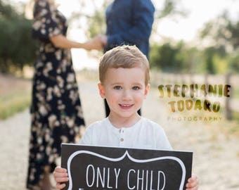 Only Child Expiring Sign Pregnancy Baby Announcement Photo Prop, Maternity Photography, Pregnancy Chalkboard, Pregnancy Reveal Baby Number 2