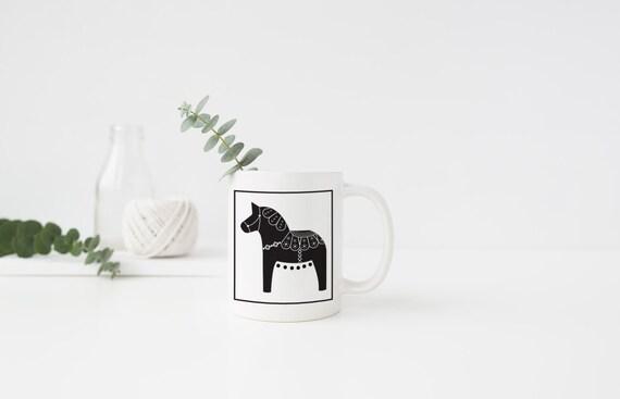 Black Dala Horse Mug