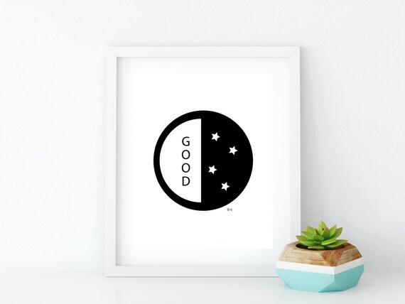 Good Night Art Print (2), Instant Digital Download